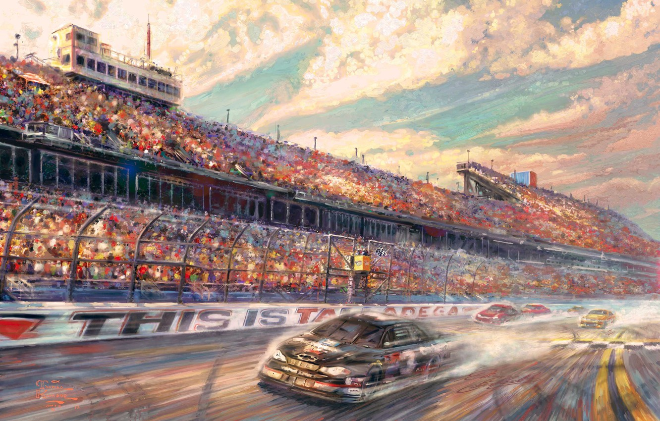 Wallpaper Lincoln Sport Speed Track Race Painting