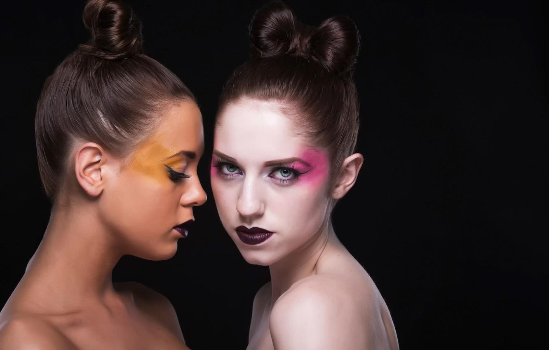 Photo wallpaper colors, makeup, fashion, girls, beauty, lips, hair, models, body, Maria, makeup, shapes, lipstick, Jeanet
