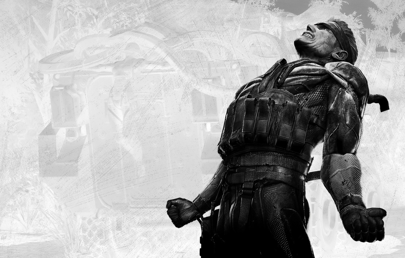 Wallpaper Black And White Snake Metal Gear Solid Images For