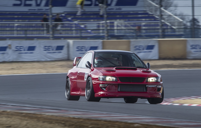 Photo wallpaper Subaru, Impreza, WRX, STI, Racing, 22B, GC8, WideBody, TimeAtack