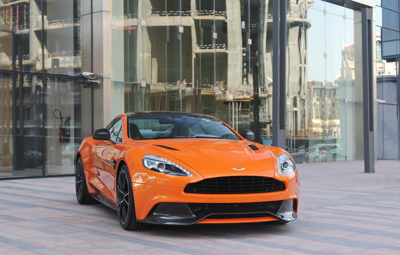 Photo wallpaper Aston Martin, Orange, Vanquish
