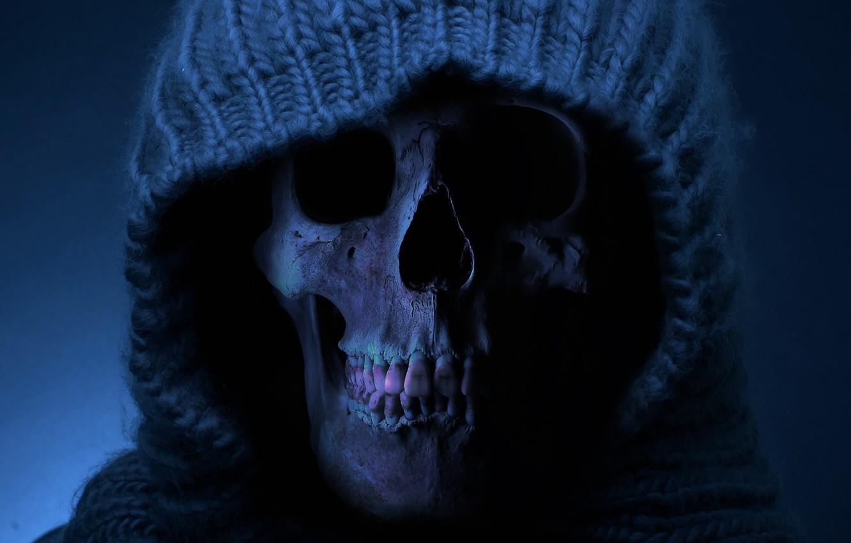 Photo wallpaper death, skull, teeth