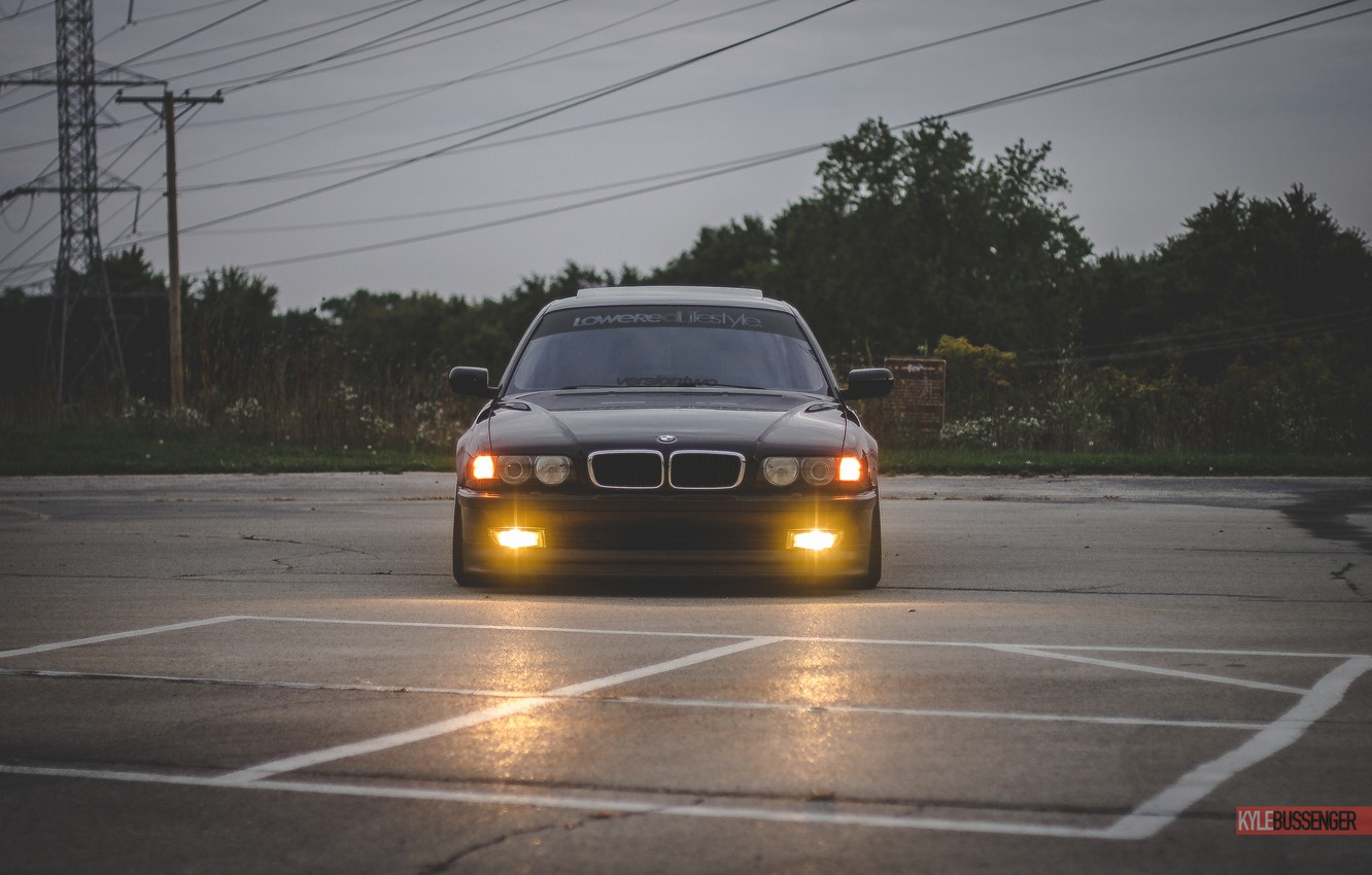Photo wallpaper BMW, Boomer, BMW, tuning, Stance, E38, 740iL
