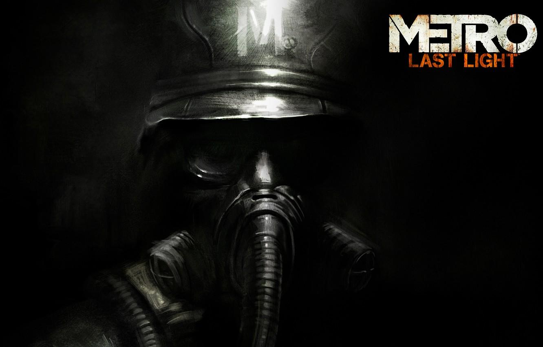 Photo wallpaper Logo, Gas mask, Helmet, Soldiers, Logo, 4A Games, Deep Silver, Metro: Last Light, Metro: Ray …