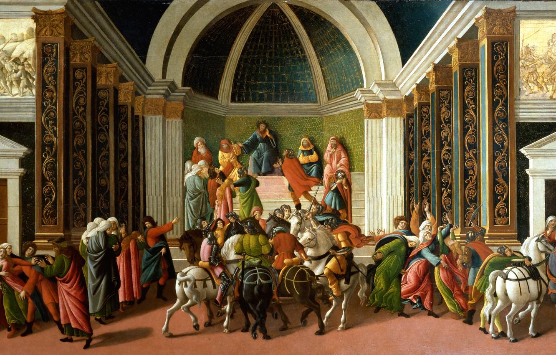 Photo wallpaper picture, mythology, Sandro Botticelli, History Of Virginia