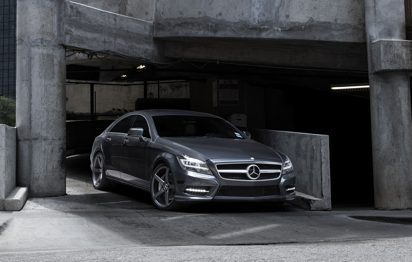Photo wallpaper Mercedes-Benz, Auto, CLS, Tuning, Machine, Parking, Check out