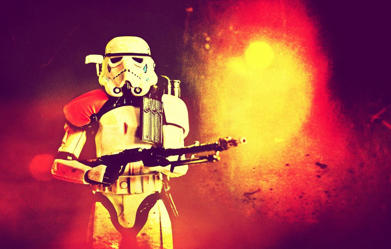 Photo wallpaper Star Wars, Stormtrooper, BlasTech E-11