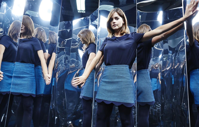 Wallpaper Look Clara Oswald Tights Reflection Actress Clara