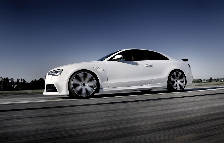 Photo wallpaper Audi, white, rs5, cool