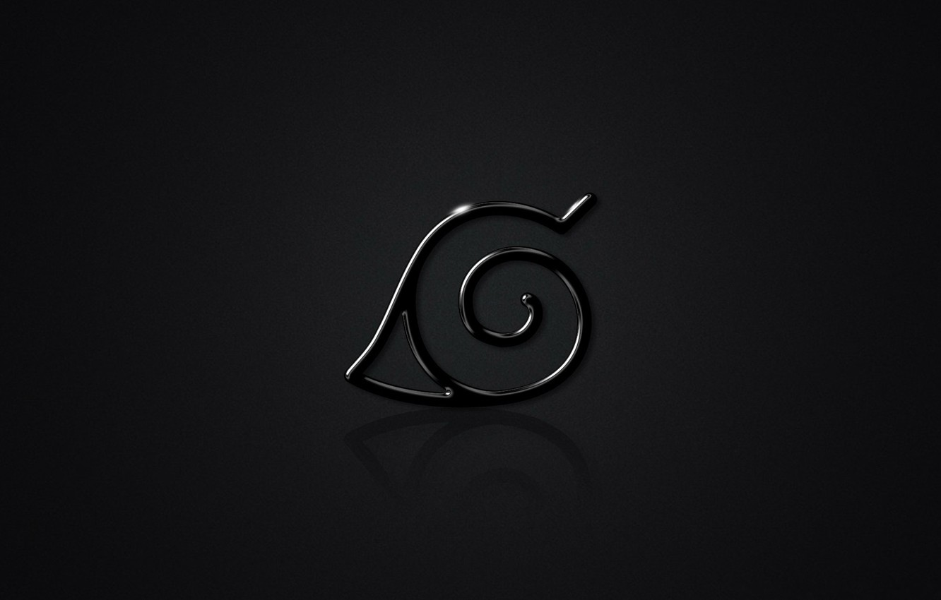 Wallpaper Emblem Black Background Naruto Naruto Konoha Images For Desktop Section Prochee Download