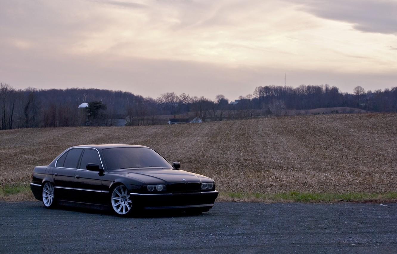 Photo wallpaper Black, BMW, Boomer, BMW, 740, Black, E38, Bimmer