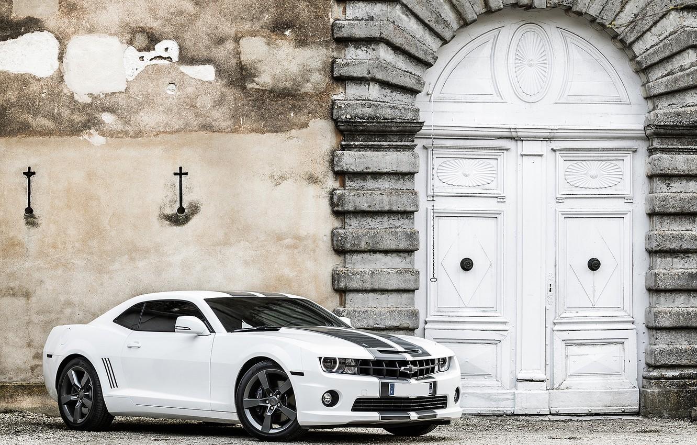 Photo wallpaper Chevrolet, Camaro, white