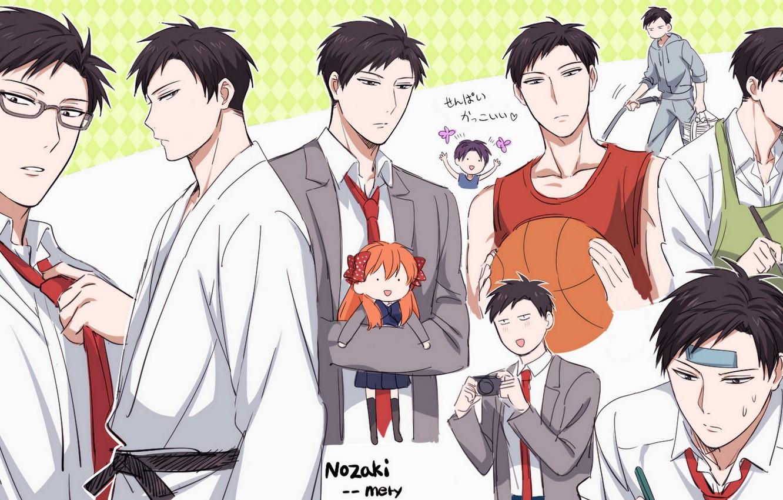 Wallpaper Anime Art Guy The Gekka Shoujo Nozaki Kun Nozaki Is