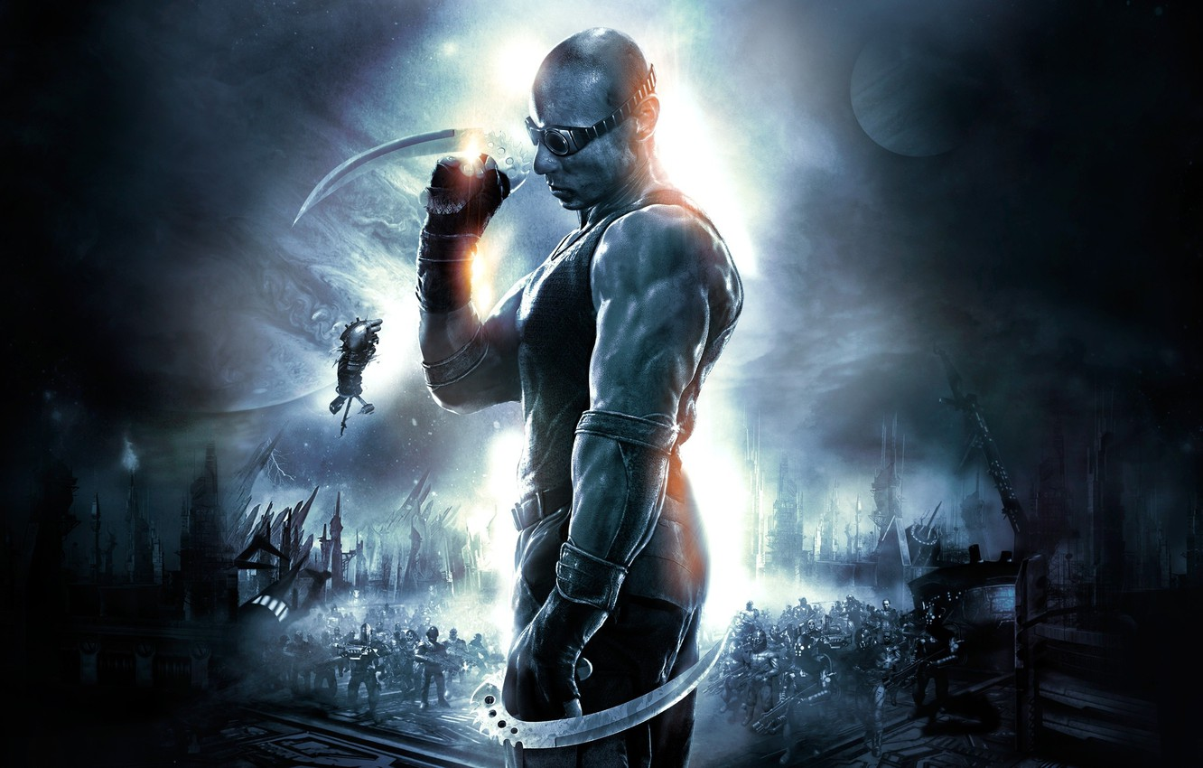 Photo wallpaper The Chronicles of Riddick, The Chronicles Of Riddick, Assault on Dark Athena, VIN Diesel