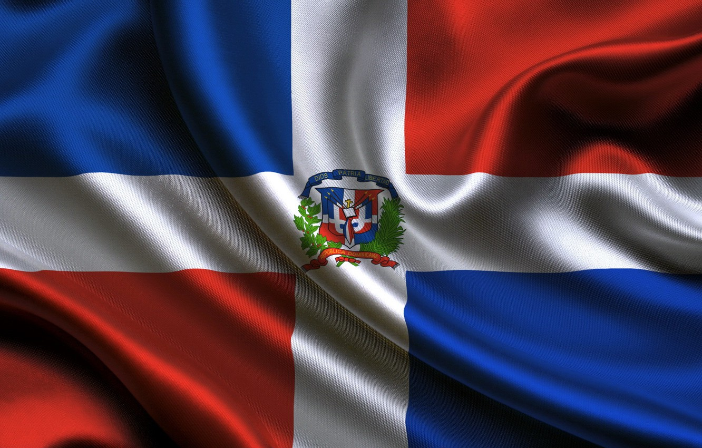 Photo wallpaper flag, flag, Republic, Dominican, dominican republic