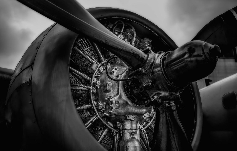 Photo wallpaper metal, propeller, aircraft engine