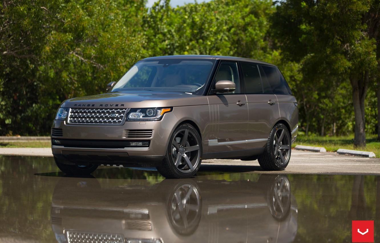 Photo wallpaper machine, auto, wheels, Land Rover, drives, auto, Vossen Wheels
