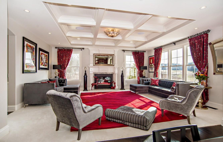 Photo wallpaper living room, home, luxury