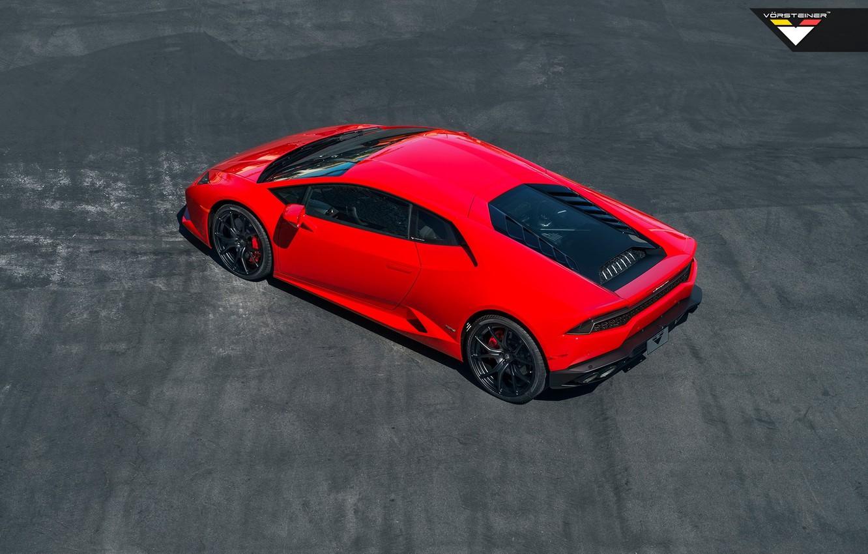 Photo wallpaper Red, Lamborghini, Tuning, Red, Vorsteiner, Lamborghini, Huracan