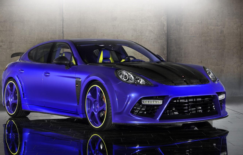 Photo wallpaper Porsche, Tuning, Blue