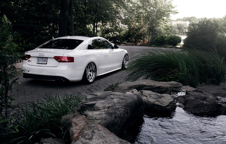 Photo wallpaper Audi, Audi, white, white