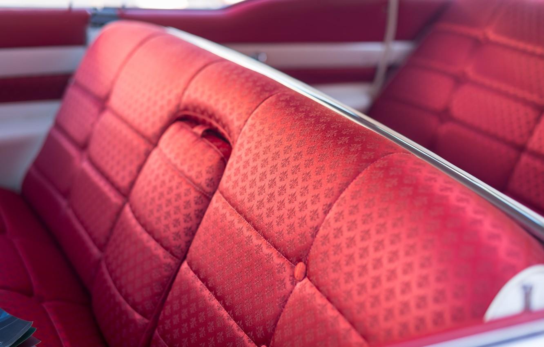 Photo wallpaper machine, red, car, salon, 1958, Cadillac Fleetwood 60 Special