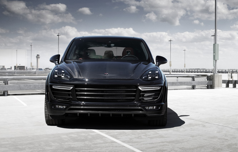 Photo wallpaper face, black, Porsche, Porsche, Black, Cayenne, Cayenne, Ball Wed, 2015