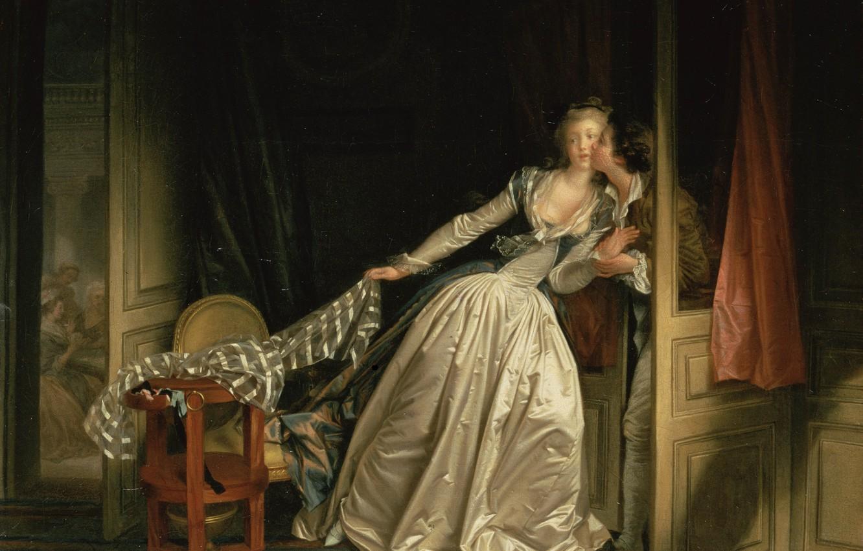 Photo wallpaper room, kiss, Fragonard
