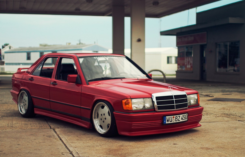 Photo wallpaper Mercedes-Benz, w201, e190