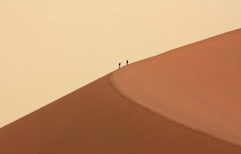 Photo wallpaper people, desert, dune