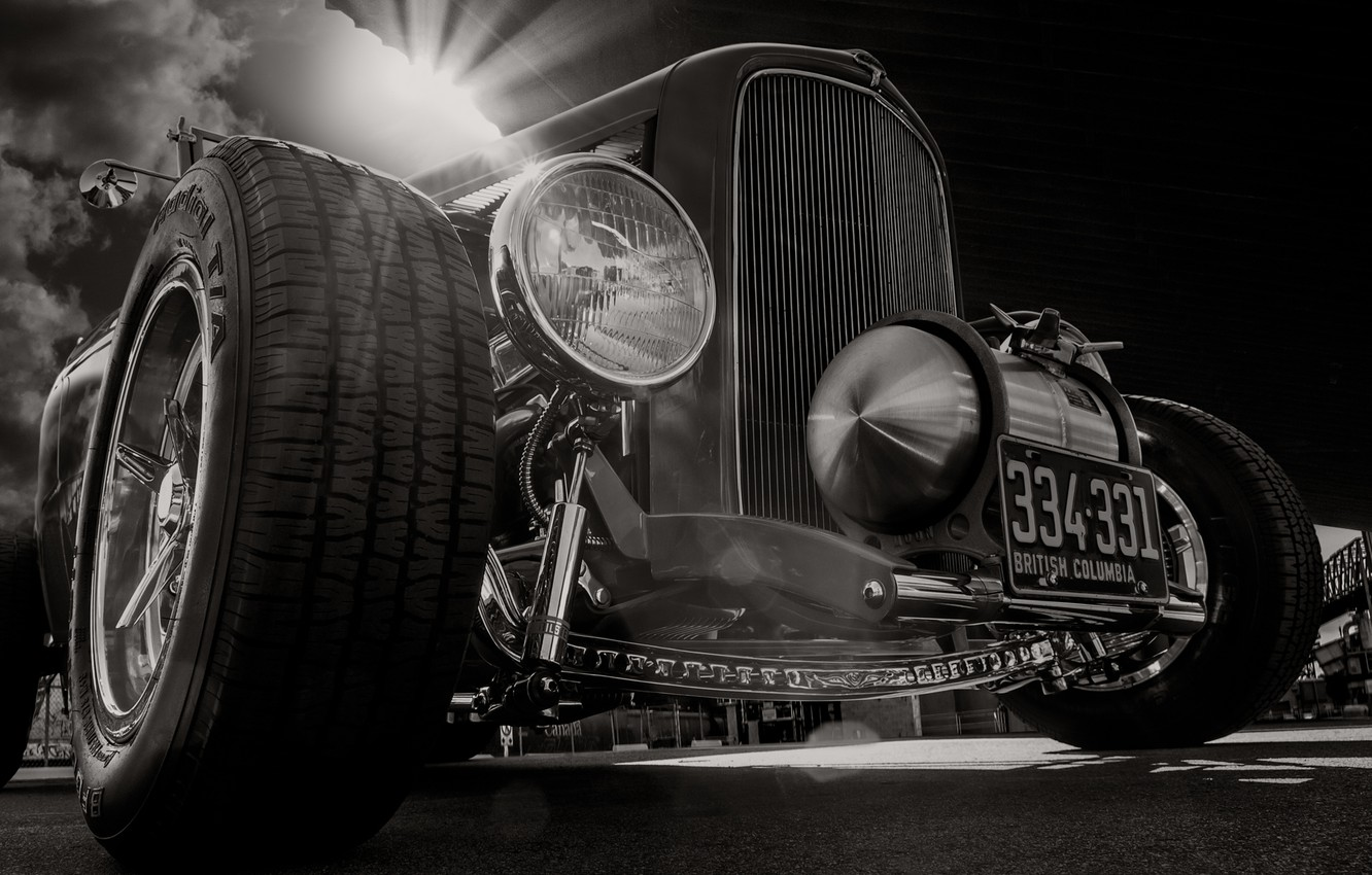 Photo wallpaper retro, Ford, Ford, classic, the front, 1932, hot rod