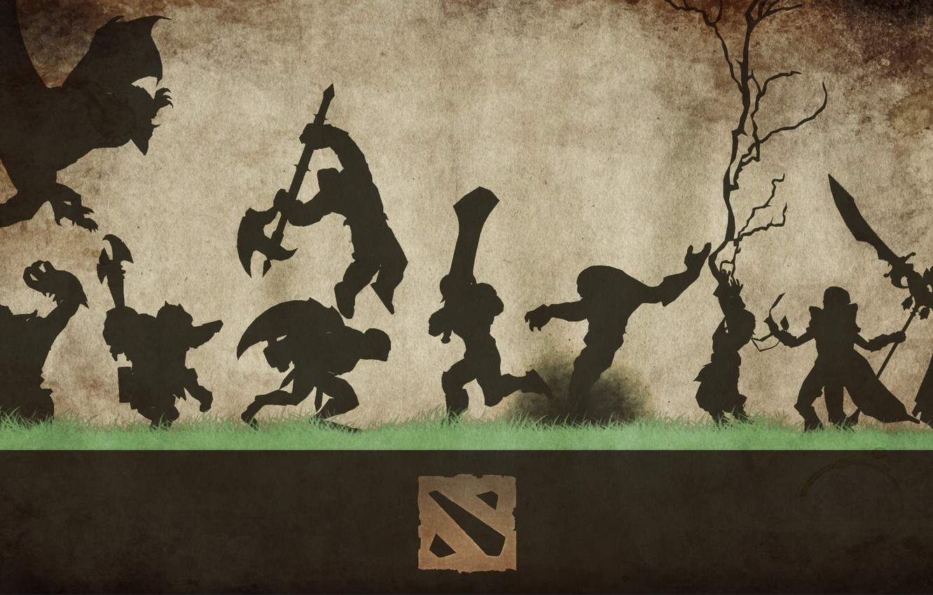 Wallpaper Grass Weapons Background Logo Silhouettes Figure