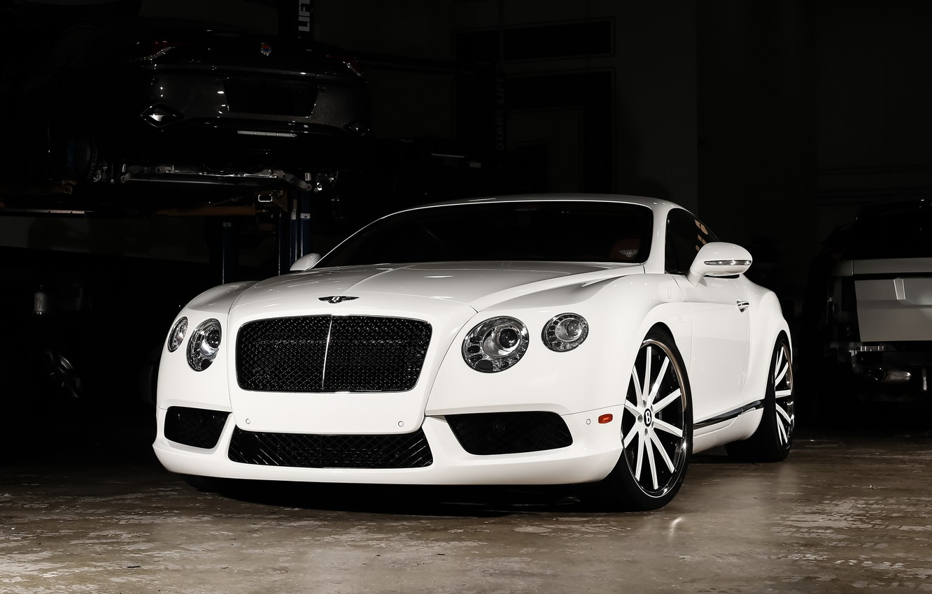 Photo wallpaper Bentley, Continental, wheels, color, Vossen, lowered, matched
