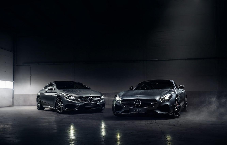 Photo wallpaper Mercedes-Benz, German, Cars, AMG, Smoke, S Class, Automotive