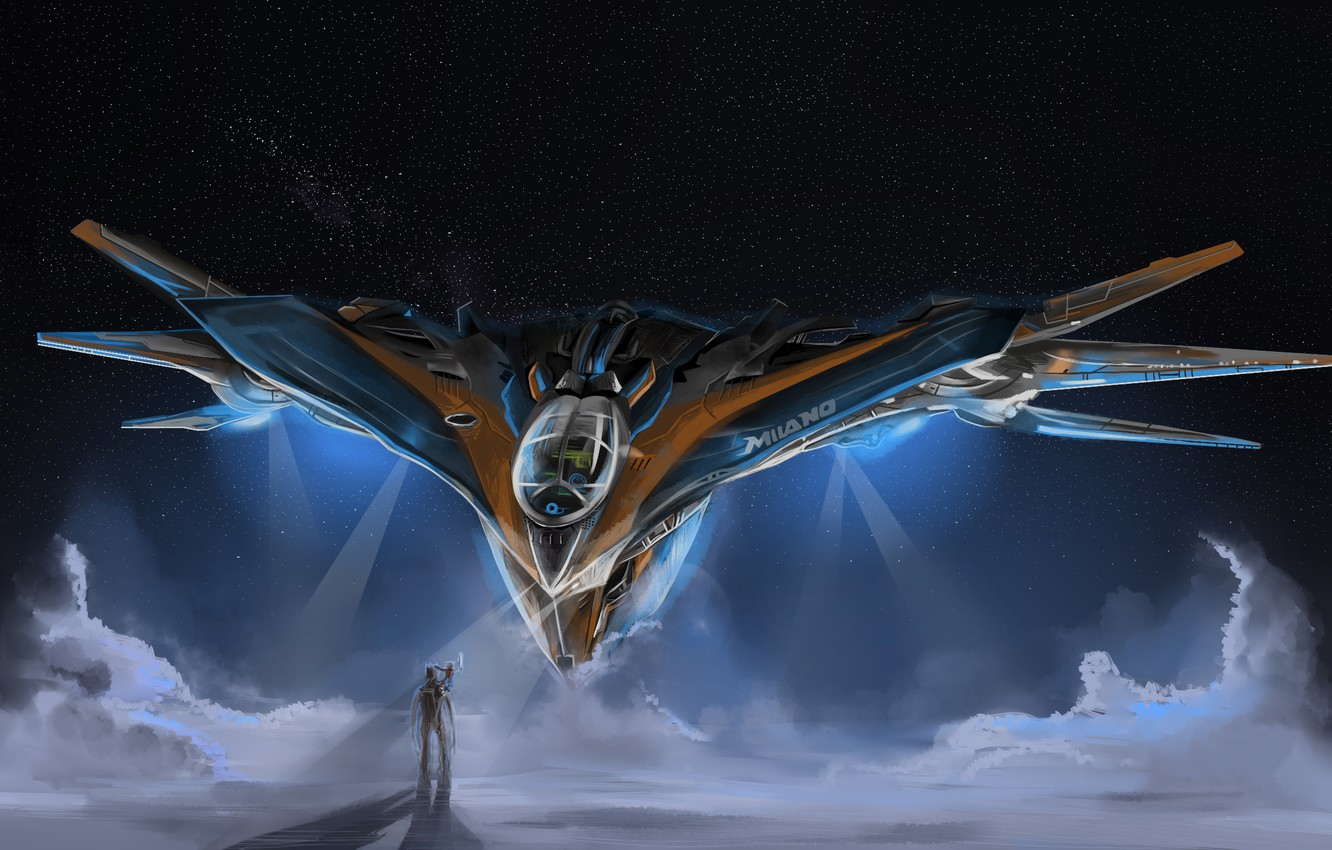 Wallpaper Milano Guardians Of The Galaxy Groot Starship Images