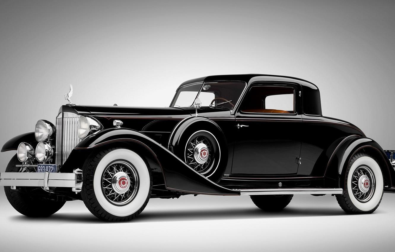 Photo wallpaper retro, black, Rolls Royce, car
