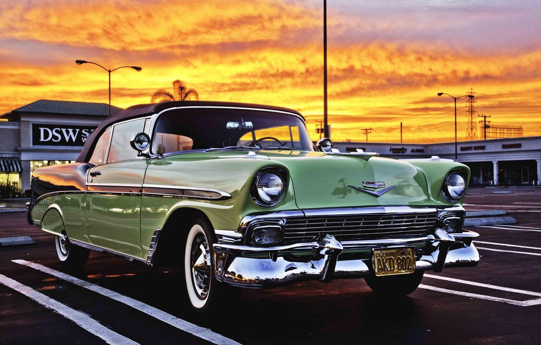 Photo wallpaper retro, Chevrolet, car, classic, the front