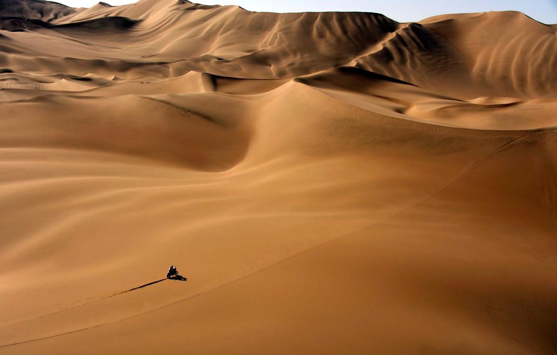 Photo wallpaper Sand, Sport, Desert, Motorcycle, Heat, Rally, Dakar, Dunes