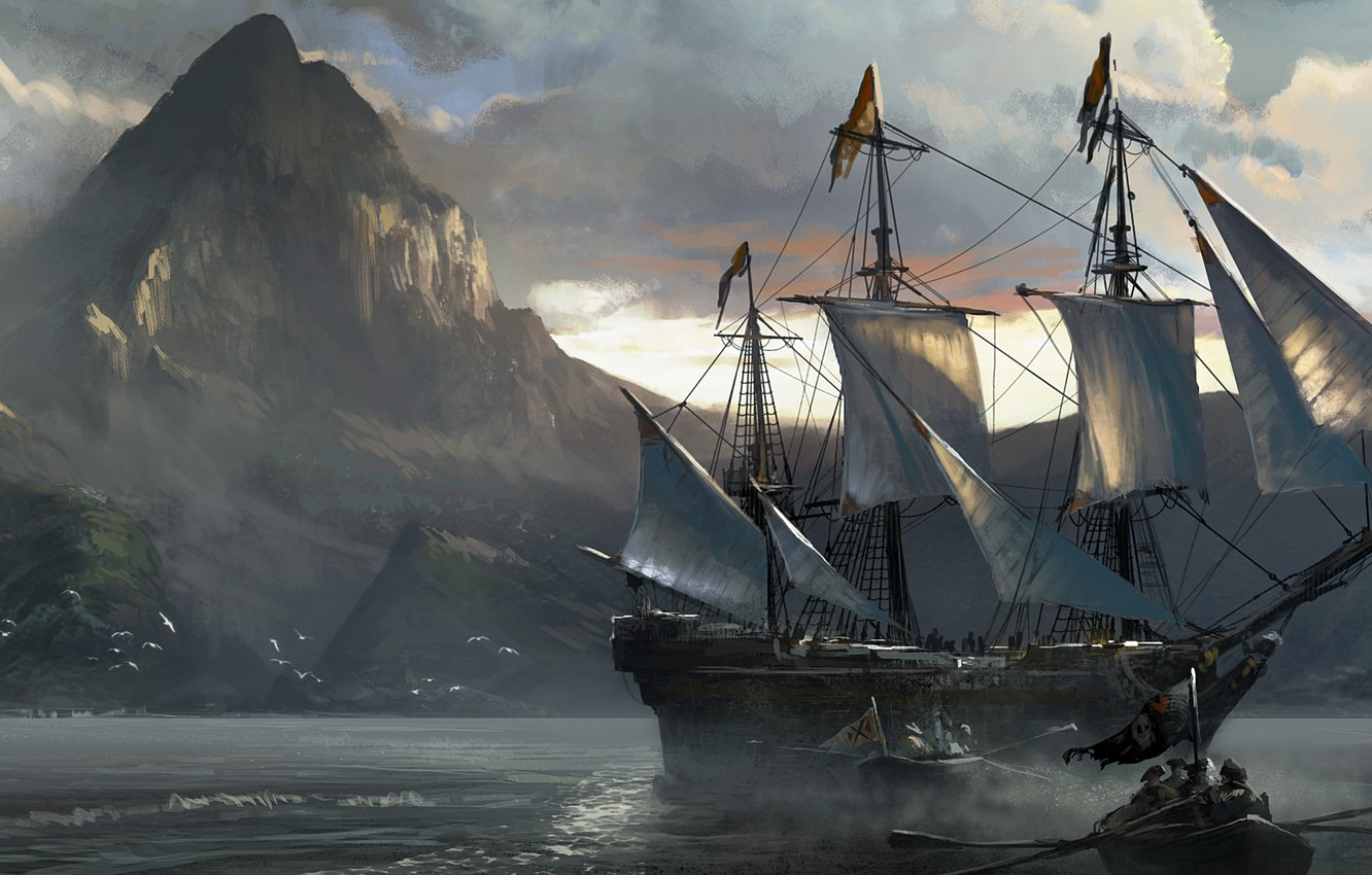 Wallpaper Sea Ship Assassin S Creed Iv Black Flag Assassin S