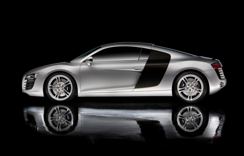 Photo wallpaper reflection, side, Audi r8