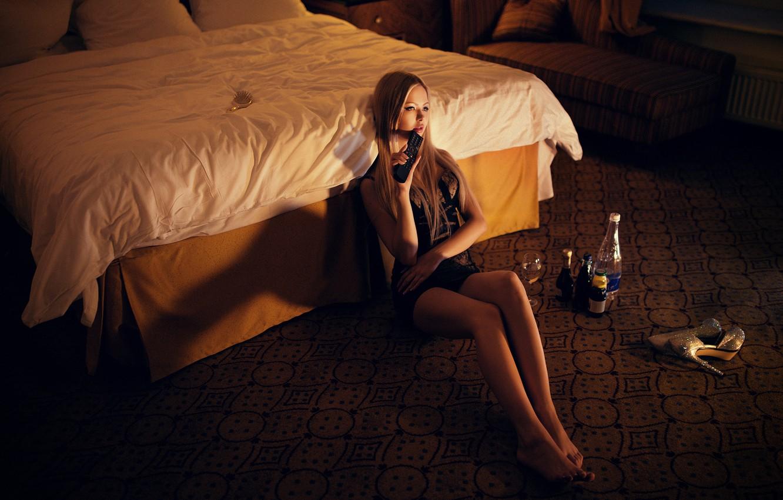Photo wallpaper Light, Beautiful, Model, Beauty, View, Valeria, Fashion, Top