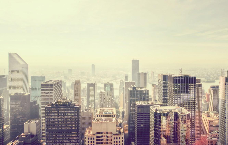Photo wallpaper the city, view, skyscraper, new York