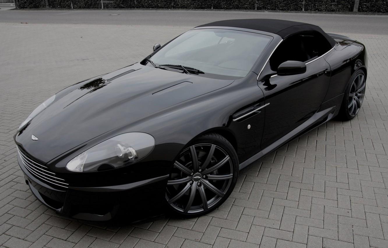 "Photo wallpaper Aston Martin, black, DB9, black, Aston Martin, ДБ9, 21"""