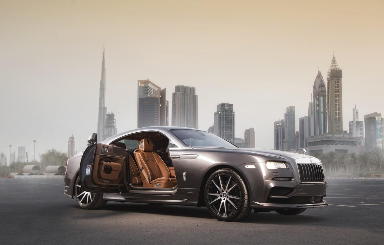 Photo wallpaper Rolls-Royce, 2014, rolls-Royce, Wraith, Ares Design