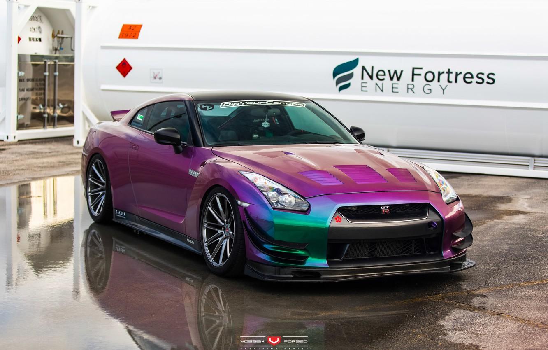 Photo wallpaper GTR, Nissan, Forged, Vossen