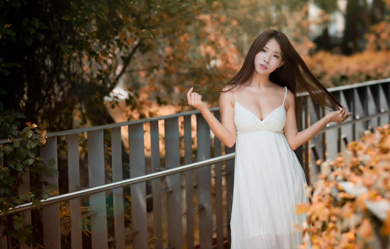 Photo wallpaper girl, the city, Asian