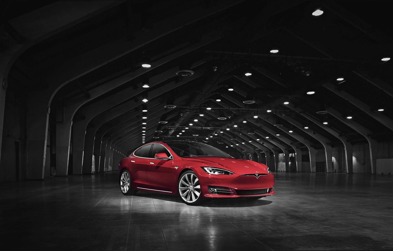 Photo wallpaper Tesla, Model S, Tesla, electric car