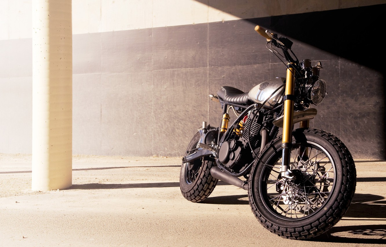 Photo wallpaper model, motorcycle, class, custom, custom, Yamaha, custom items, yamaha sr542, Cafe Racer, Deus Ex Machina