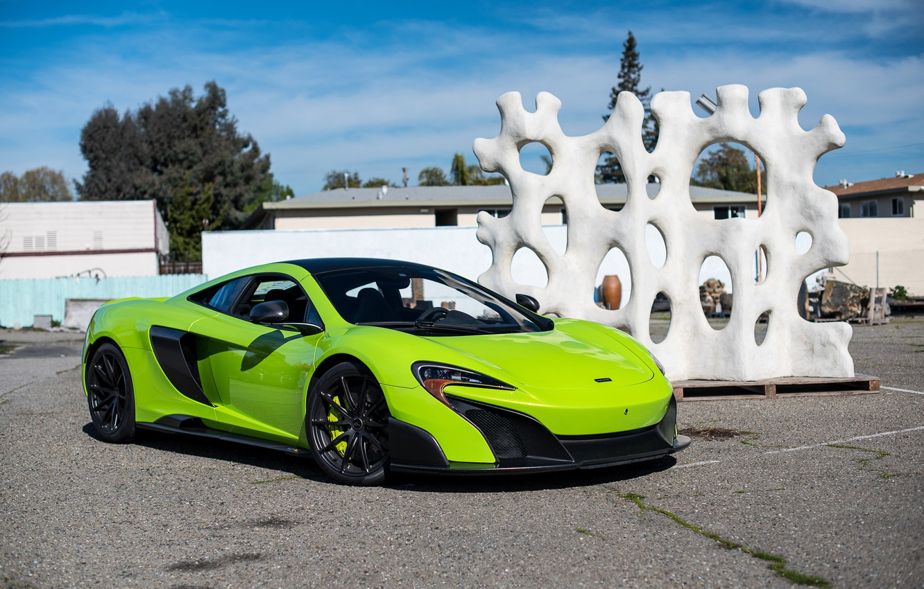 Photo wallpaper McLaren, Green, 675LT, Napier, 5365