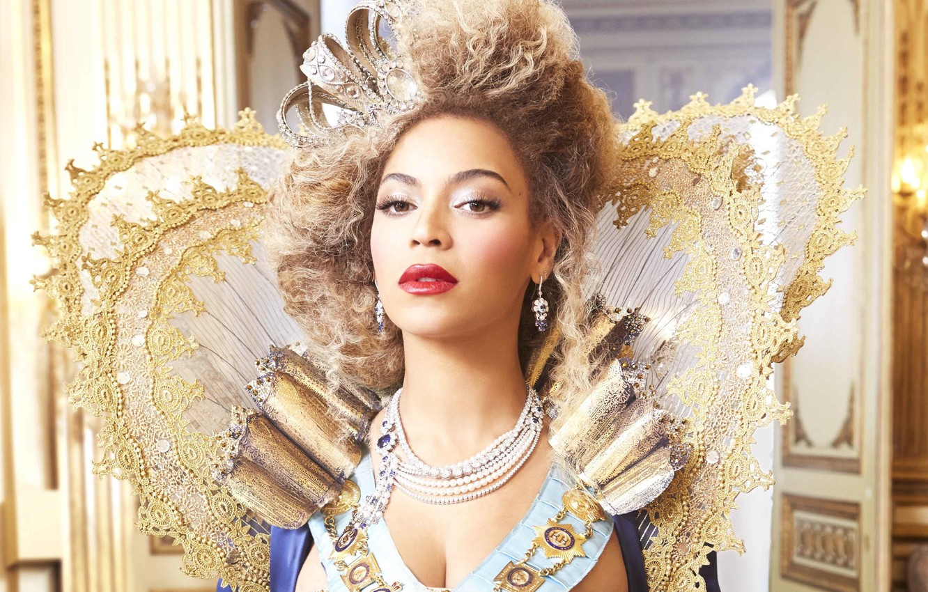 Wallpaper Decoration Crown Dress Hairstyle Singer Beyonce Lace Photoshoot Queen Images For Desktop Section Devushki Download